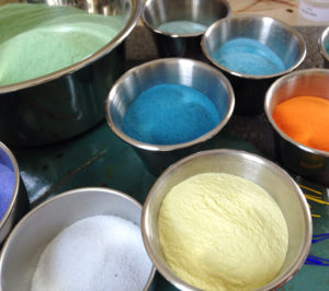 vitreous powdered enamels