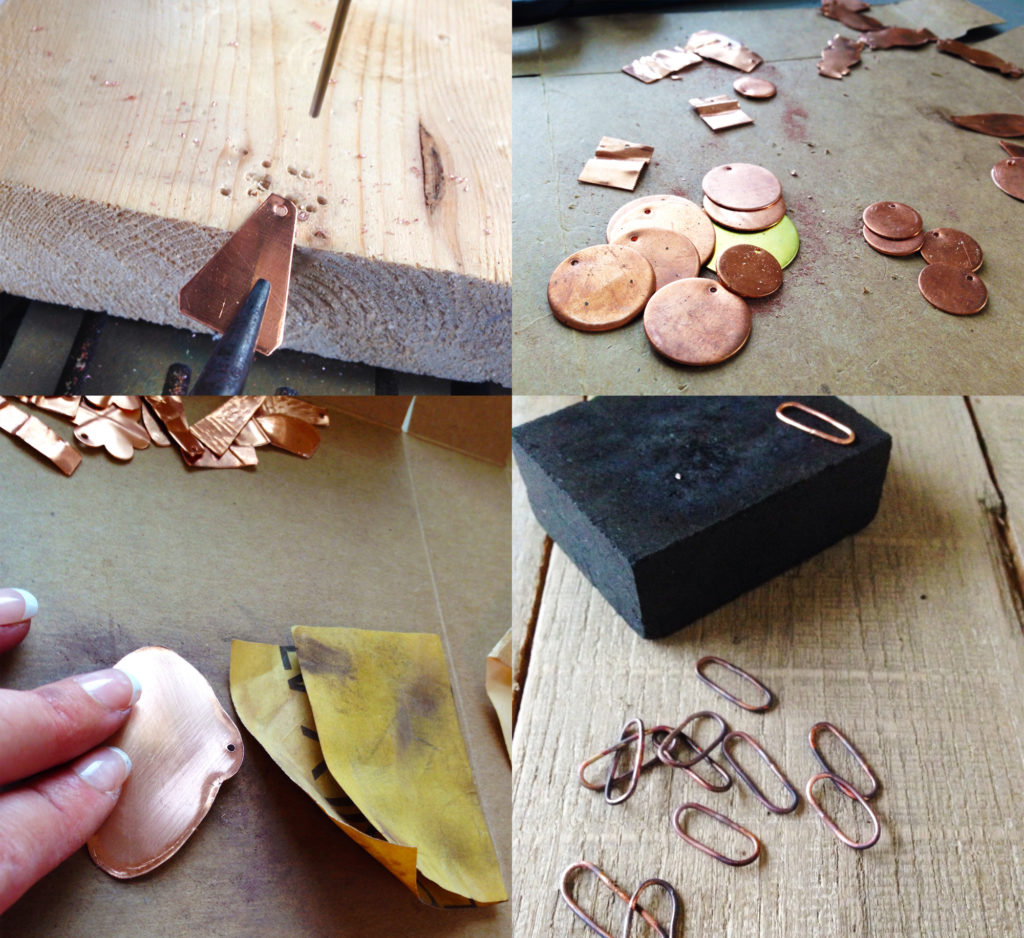 handmade jewelry - copper handforged