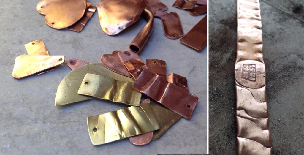 handmade copper and brass jewelry