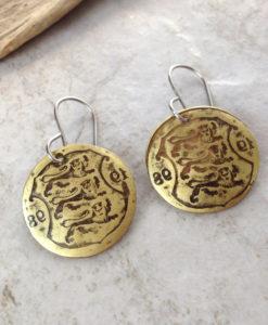 Brass Coin Earrings