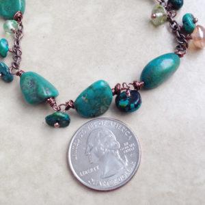 Green Turquoise Bead Bracelet