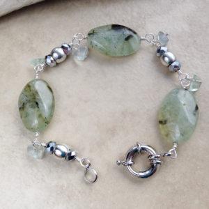Prehnite Green Stone Bracelet