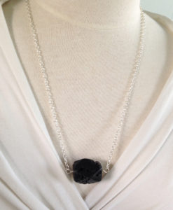 Blackstone Drop Necklace