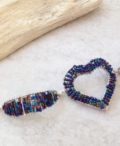 Fashion Seed Bead Heart Bracelet
