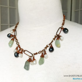 Pearl Copper Link Necklace