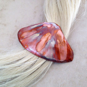 Copper Clam Shell Barrette Hair clip