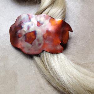 Copper Sheep Hair Barrette Clip