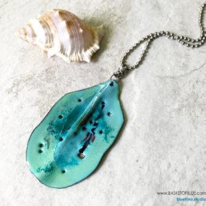 Seaweed Enamel Ocean Pendant