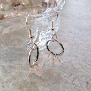 Pink Lady Rose Quartz Necklace Set