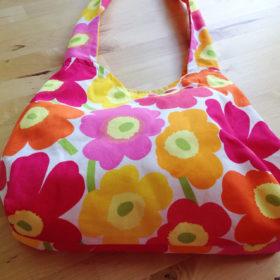 Marimekko Bag Unikko Red Orange Pink Purse
