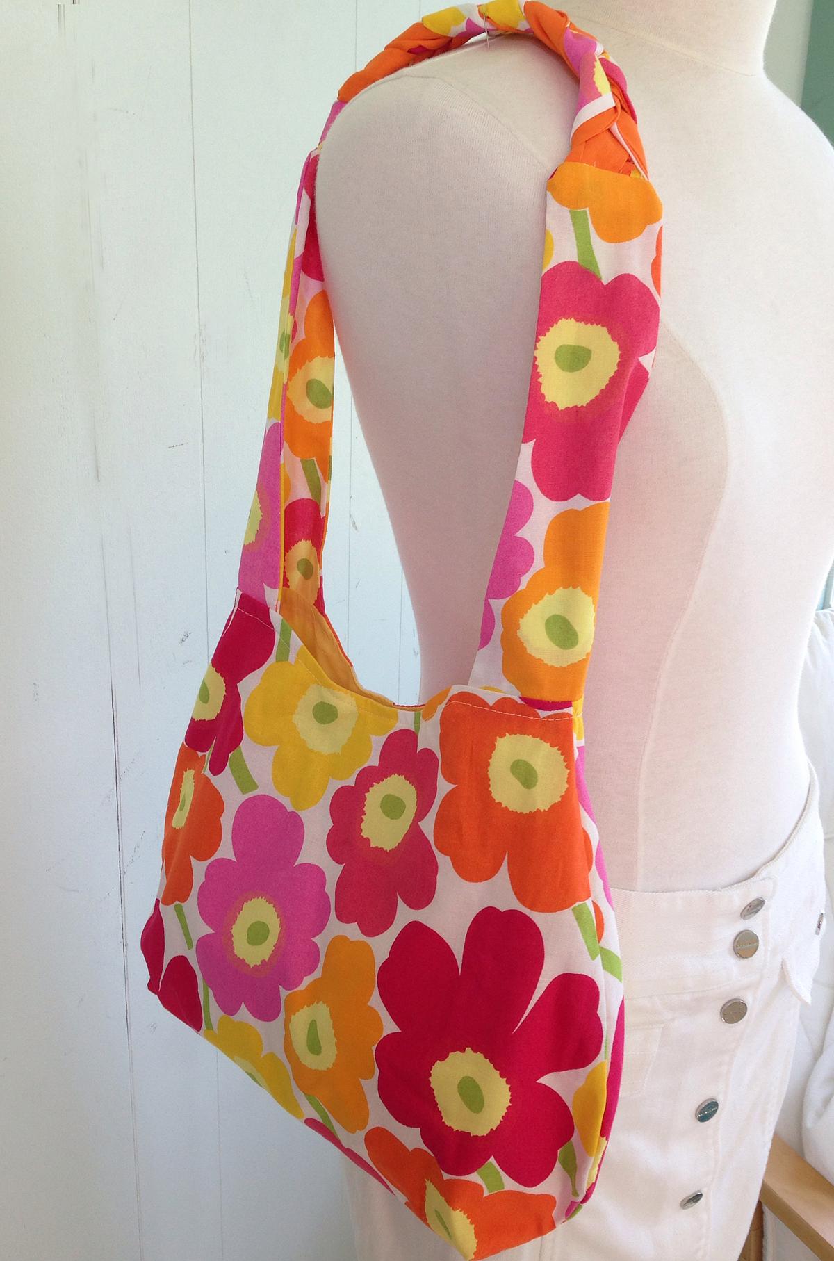 Marimekko Hobo Bag Unikko Quot Poppy Quot Cotton Fabric Flower