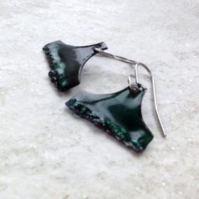 Enamel Emerald Green Oriental Aladdin Earrings