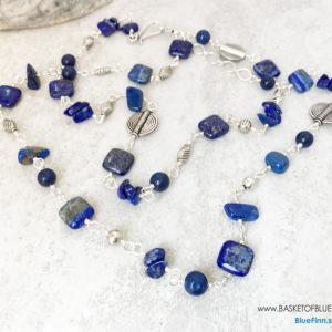 Long Blue Denim Lapis Necklace