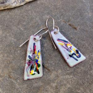 Picasso Enamel Art Earrings