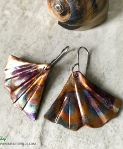 mermaid tail earrings ginkgo earrings