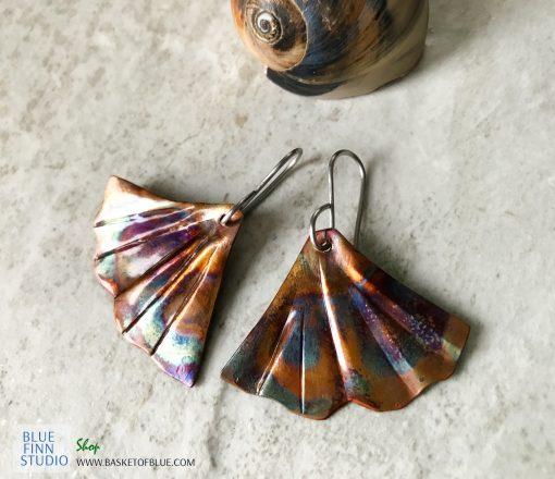 mermaid tail earrings ginkgo earrings