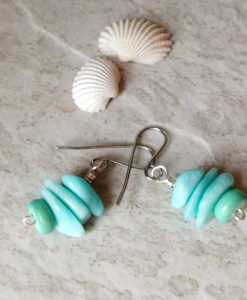 Blue Opal Stack Earrings