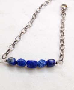 Blue Sodalite Bar Bracelet