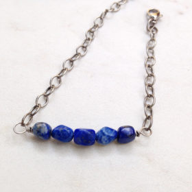 Blue Sodalite Bar Bracelet