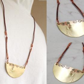 Brass Moon Necklace Handmade
