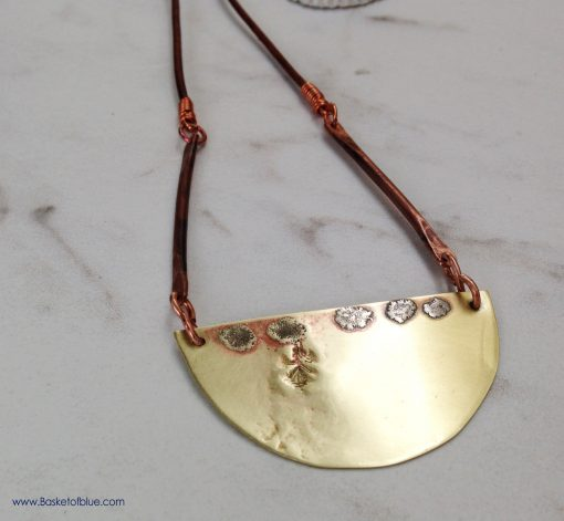 Brass Moon Necklace Handmade