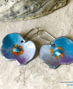 Blue Poppy Earrings