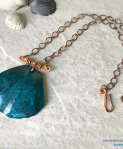 Blue Patina Shell Necklace