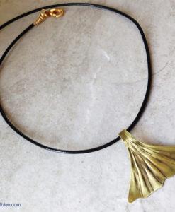Brass Ginkgo Leaf Necklace