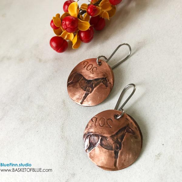 Horse Coin Earrings