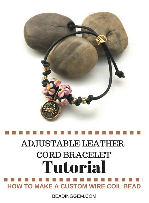 Leather Cord Charm Bracelet Tutorial