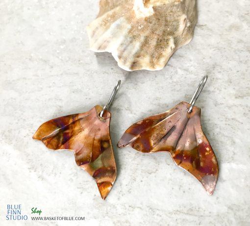 fish tail earrings