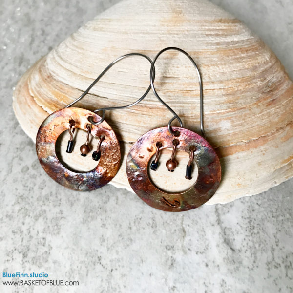 Boho hoop earrings