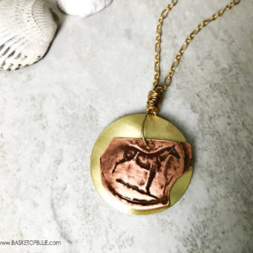 Horse coin necklace