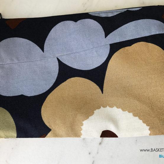 Marimekko Blue Poppy Zipper Pouch