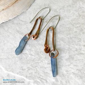 Kyanite and Copper Earrings