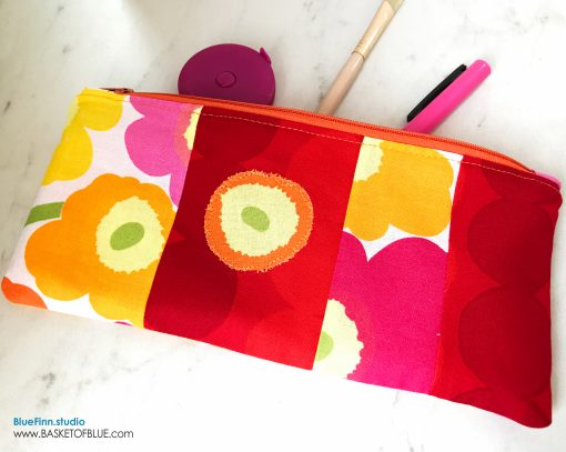 Marimekko Zipper Pouch Patchwork Poppy Pencil Case