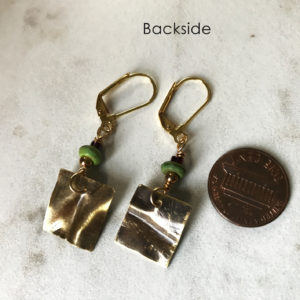 Hammered Brass Dangle Earrings