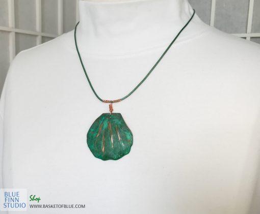 Green Patina Shell Necklace