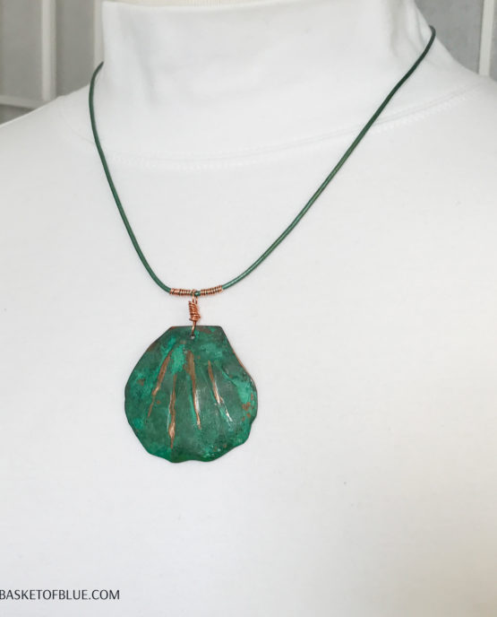Green Patina Shell Necklace