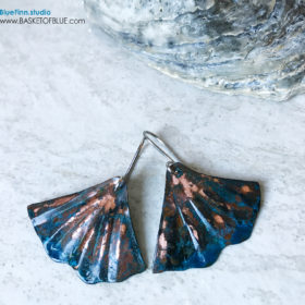 Blue Patina Mermaid Earrings