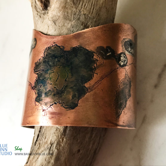 Copper Poppy Cuff
