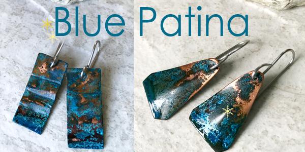Blue patina jewelry