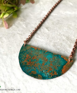 Patina Moon Necklace