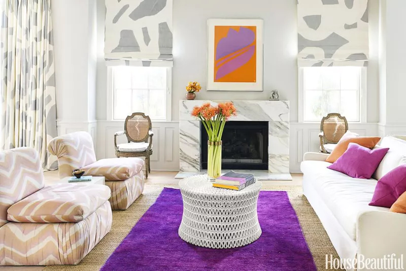 ultra violet color of the year 2018 home decor rug