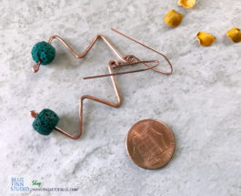 Lava Squiggle Earrings
