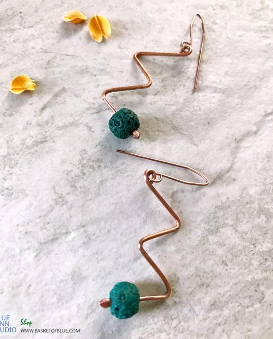Lava Squiggle Earrings