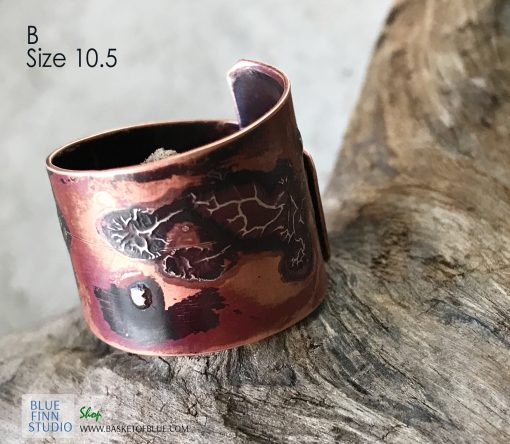 mixed metal wrap ring viking jewelry inspired