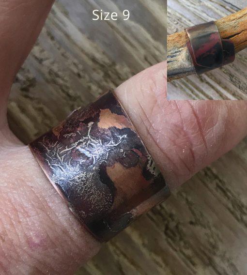 copper silver wrap ring
