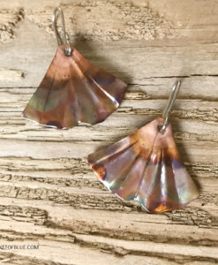 ginkgo earrings mermaid tail earrings