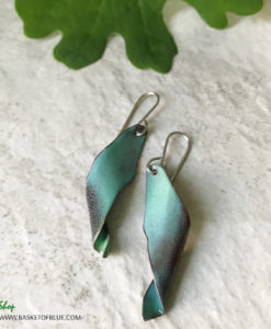 enamel seed pod earrings